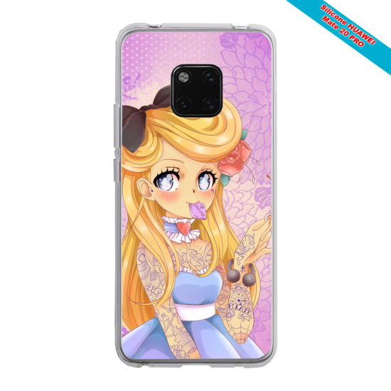 Coque silicone Iphone XS MAX Papillon de nuit mandala