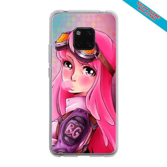 Coque silicone Iphone XR Verre Trempé Papillon de nuit mandala