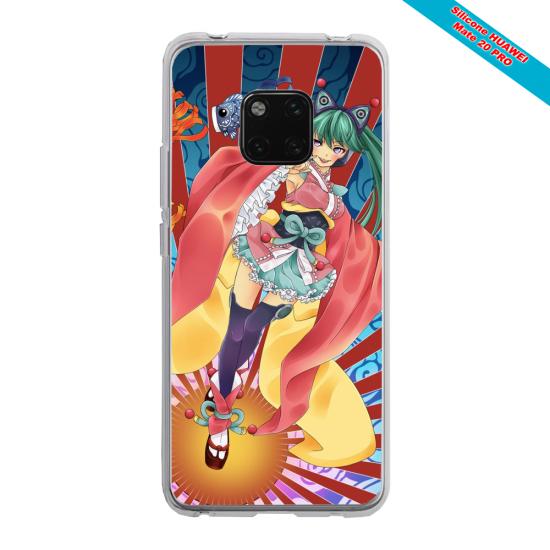 Coque silicone Iphone XR Papillon de nuit mandala