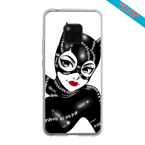 Coque silicone Iphone X/XS verre trempé Papillon de nuit mandala