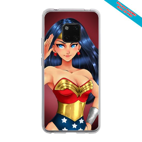 Coque silicone Iphone X/XS Papillon de nuit mandala