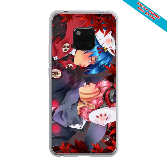 Coque Silicone iphone 7/8 verre trempé Papillon de nuit mandala