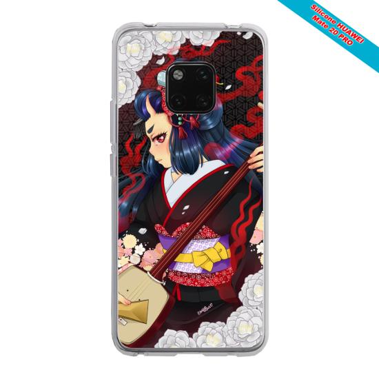 Coque silicone Iphone 11 Papillon de nuit mandala