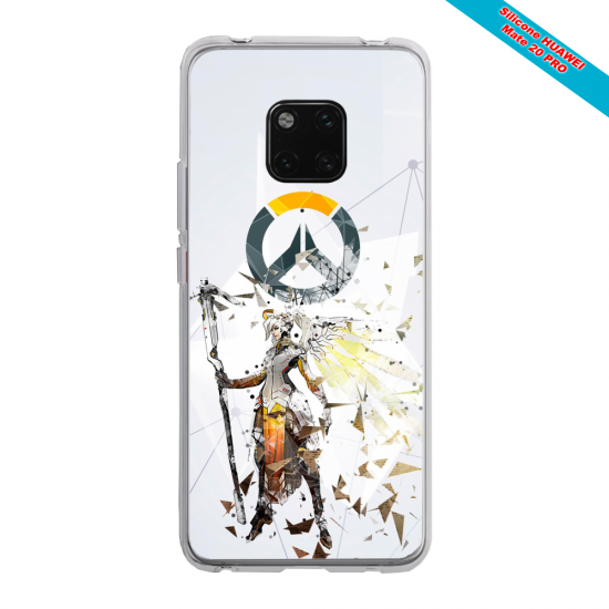 Coque silicone Iphone X/XS verre trempé Ours mandala