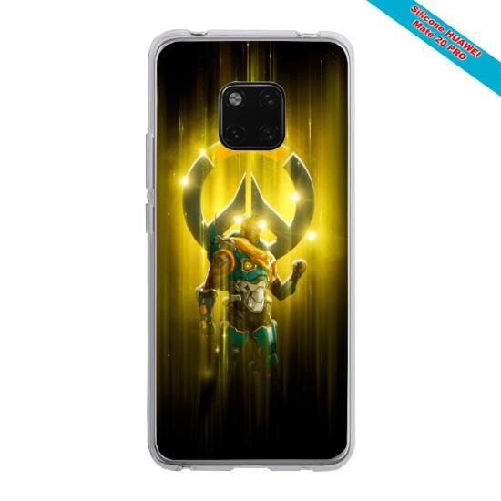 Coque silicone Huawei Mate 10 Loup mandala