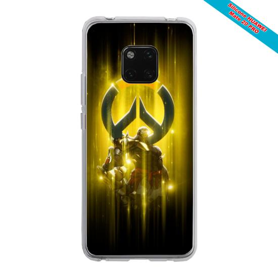 Coque Silicone Galaxy S20 verre trempé Loup mandala