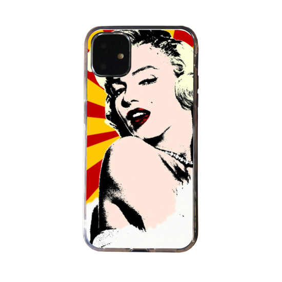 Coque silicone Iphone SE 2020 Loup mandala