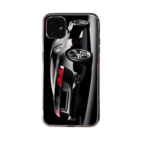 Coque silicone Iphone 11 verre trempé Loup mandala
