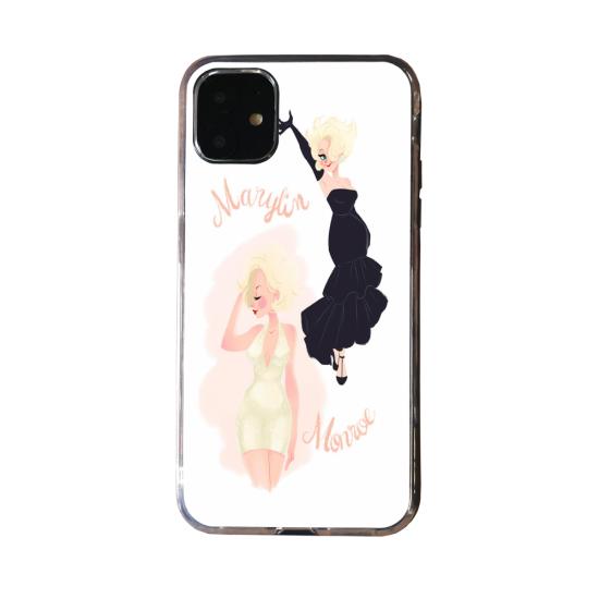 Coque silicone Iphone X/XS verre trempé Loup mandala