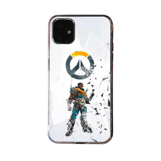 Coque Silicone Galaxy S20 verre trempé Fan d'Overwatch Orisa super hero