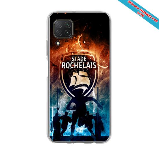 Coque silicone Huawei Mate 30 LITE Papillon de nuit mandala