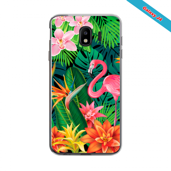 Coque silicone Galaxy A10S Flamant rose