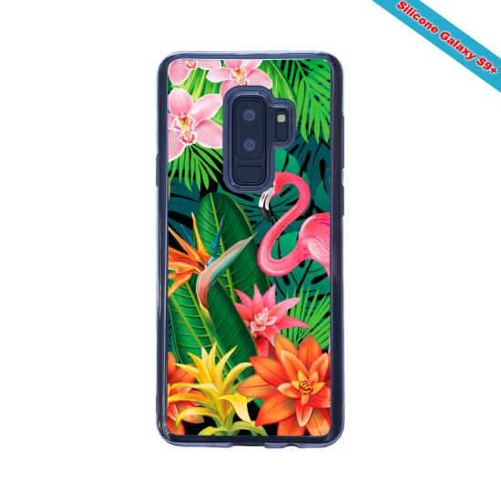 Coque silicone Huawei MATE 30 LITE Hibiscus bleu