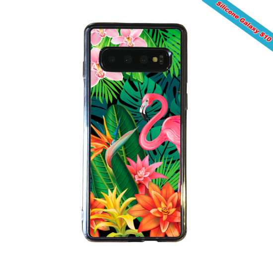 Coque silicone Huawei MATE 30 LITE Flamant rose