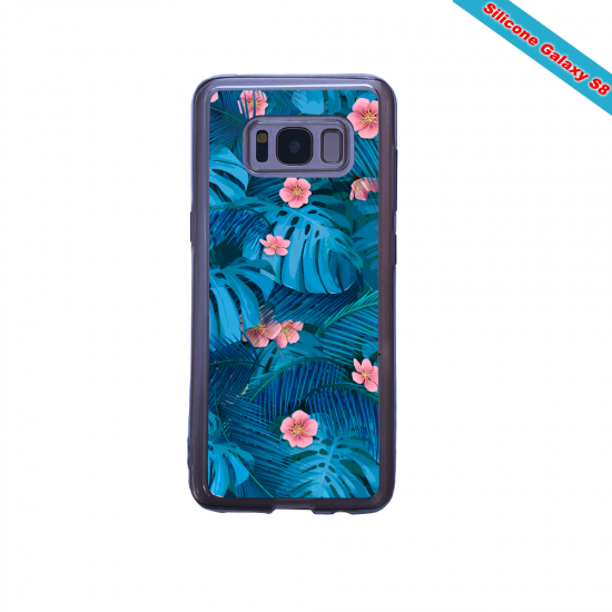 Coque silicone Galaxy A10S Panda avec des coeurs