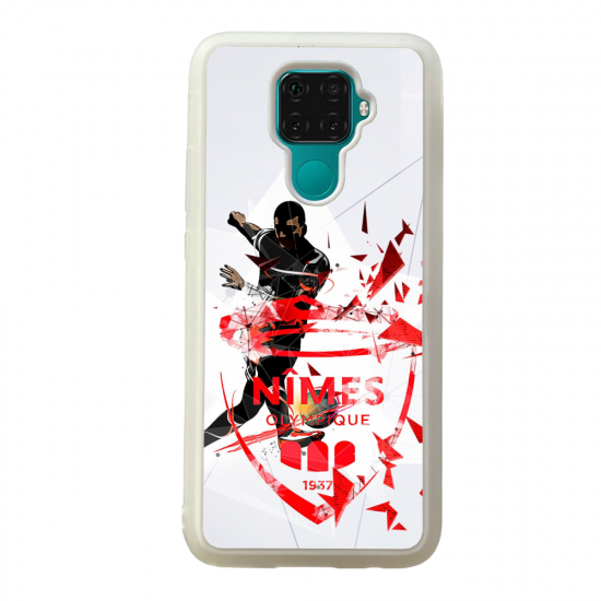 Coque silicone Galaxy A40S ou M30 Fan de Ligue 1 Nice splatter