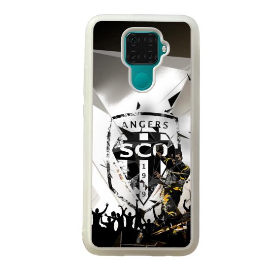 Coque silicone Galaxy A40S ou M30 Fan de Ligue 1 Dijon splatter