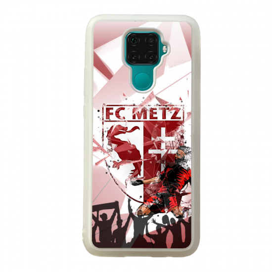 Coque silicone Galaxy A40S ou M30 Fan de Ligue 1 Amiens splatter