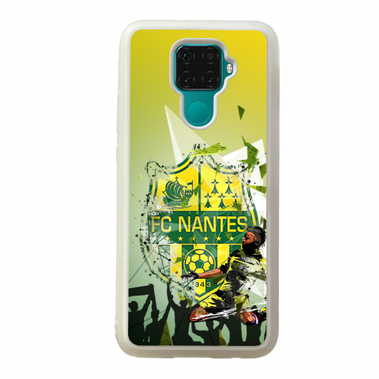 Coque silicone Galaxy A40S ou M30 Fan de Ligue 1 Strasbourg cosmic