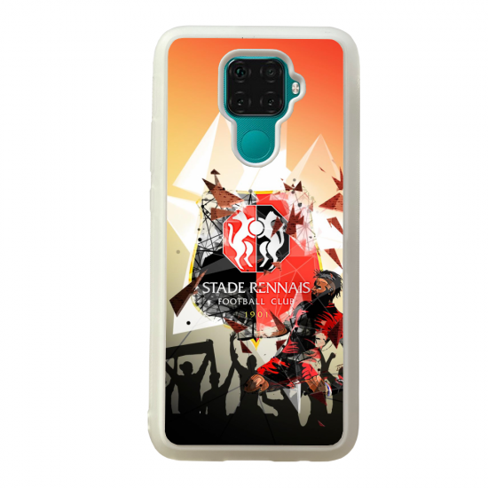 Coque silicone Galaxy A40S ou M30 Fan de Ligue 1 St-Etienne cosmic