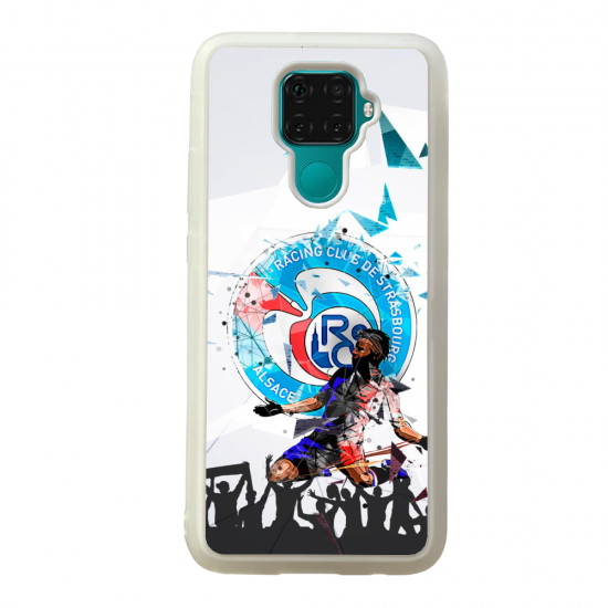 Coque silicone Galaxy A40S ou M30 Fan de Ligue 1 Rennes cosmic