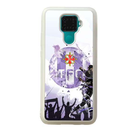 Coque silicone Galaxy A40S ou M30 Fan de Ligue 1 Reims cosmic