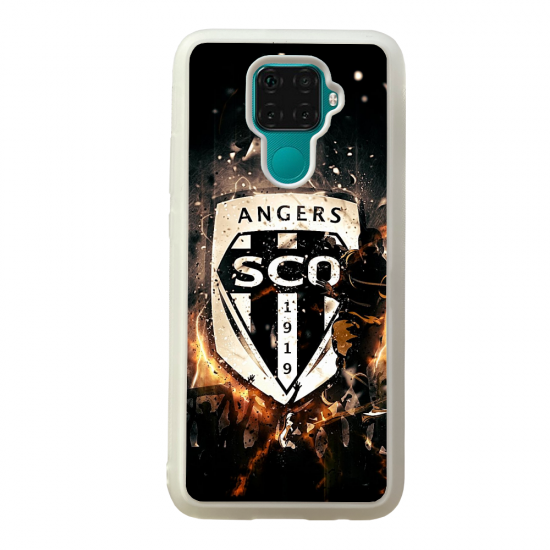 Coque silicone Galaxy A40S ou M30 Fan de Ligue 1 Nimes cosmic