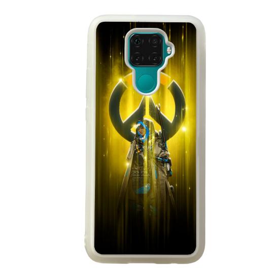 Coque silicone Galaxy A40S ou M30 Fan d'Overwatch Zenyatta super hero