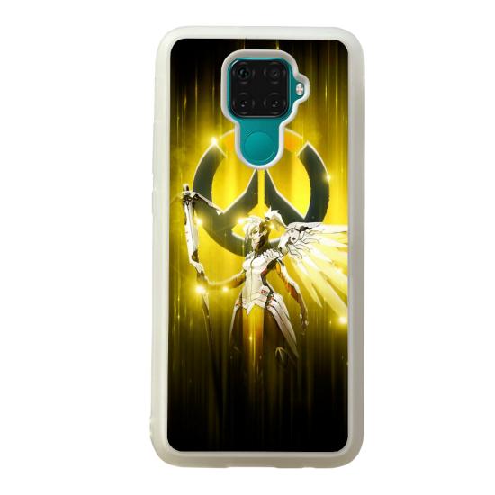 Coque silicone Galaxy A40S ou M30 Fan d'Overwatch Zarya super hero