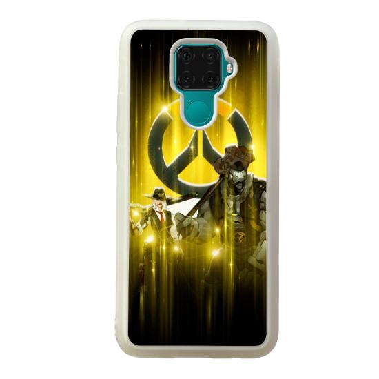 Coque silicone Galaxy A40S ou M30 Fan d'Overwatch Winston super hero