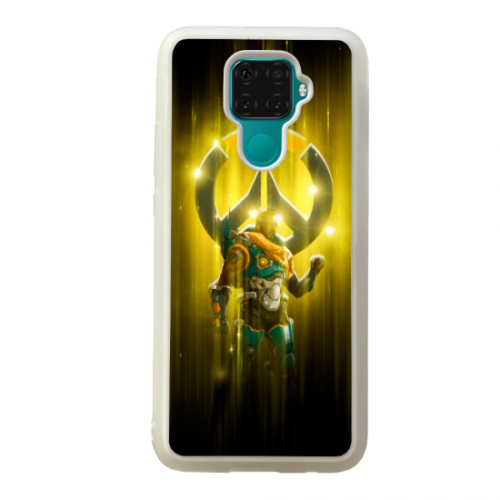 Coque silicone Galaxy A40S ou M30 Fan d'Overwatch Tracer super hero