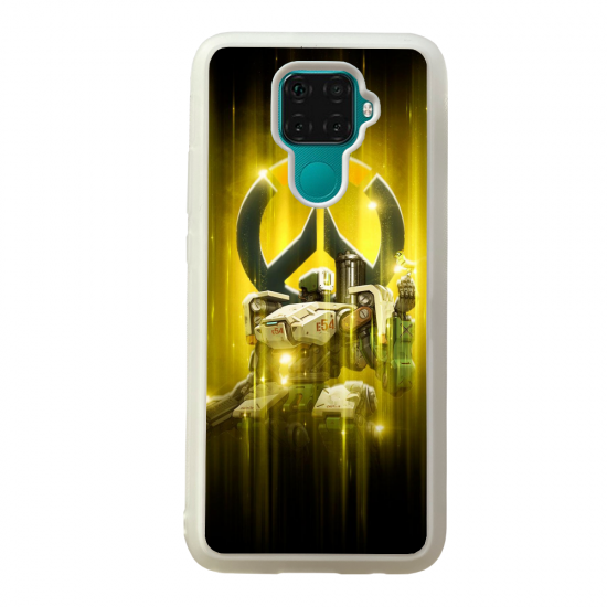Coque silicone Galaxy A40S ou M30 Fan d'Overwatch Torbjörn super hero