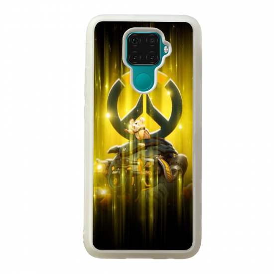 Coque silicone Galaxy A40S ou M30 Fan d'Overwatch Symmetra super hero