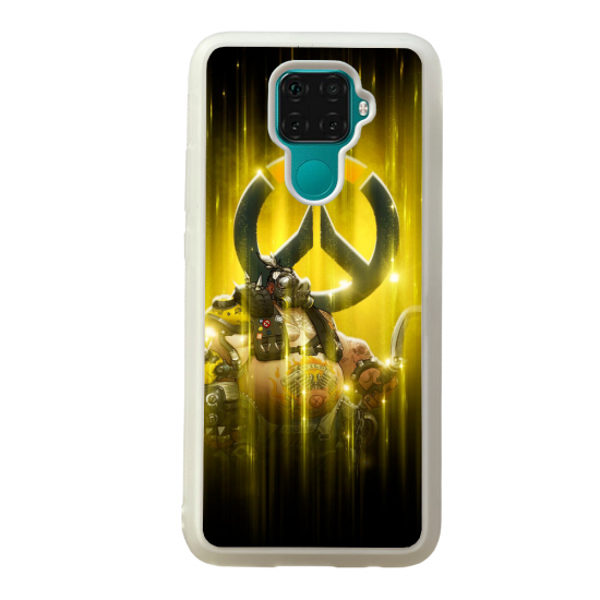 Coque silicone Galaxy A40S ou M30 Fan d'Overwatch Sigma super hero