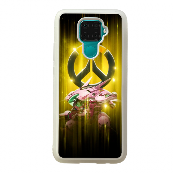 Coque silicone Galaxy A40S ou M30 Fan d'Overwatch Reinhardt super hero