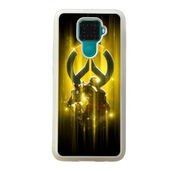 Coque silicone Galaxy A40S ou M30 Fan d'Overwatch Pharah super hero