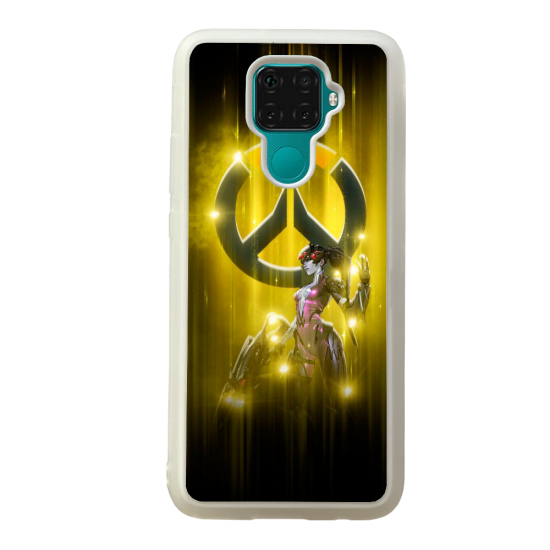 Coque silicone Galaxy A40S ou M30 Fan d'Overwatch Orisa super hero
