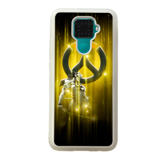 Coque silicone Galaxy A40S ou M30 Fan d'Overwatch Mei super hero