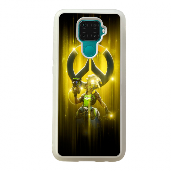 Coque silicone Galaxy A40S ou M30 Fan d'Overwatch Lúcio super hero