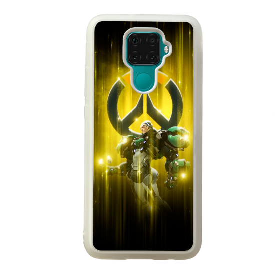 Coque silicone Galaxy A40S ou M30 Fan d'Overwatch Choppeur super hero