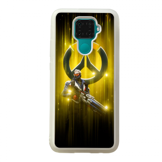 Coque silicone Galaxy A40S ou M30 Fan d'Overwatch Chacal super hero