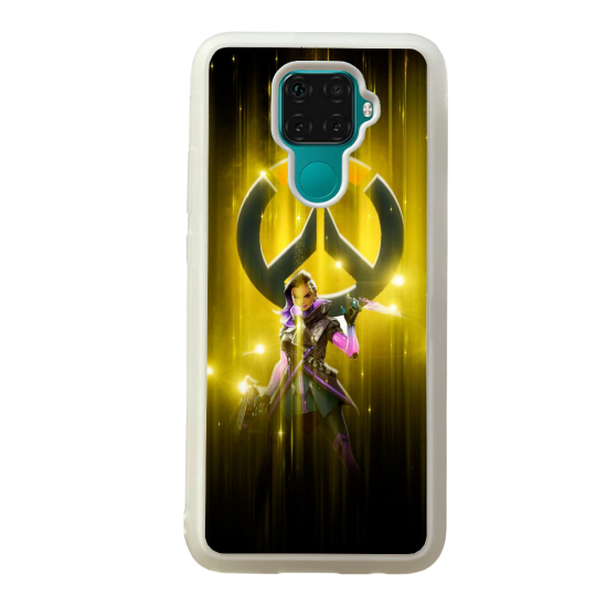Coque silicone Galaxy A40S ou M30 Fan d'Overwatch Brigitte super hero