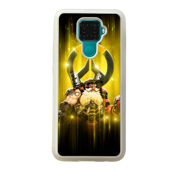 Coque silicone Galaxy A40S ou M30 Fan d'Overwatch Bastion super hero