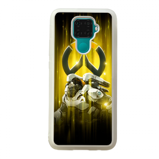 Coque silicone Galaxy A40S ou M30 Fan d'Overwatch Ashe super hero