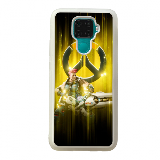 Coque silicone Galaxy A40S ou M30 Fan d'Overwatch Ange super hero