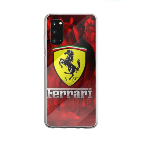 Coque silicone Galaxy A40S ou M30 Hibiscus bleu