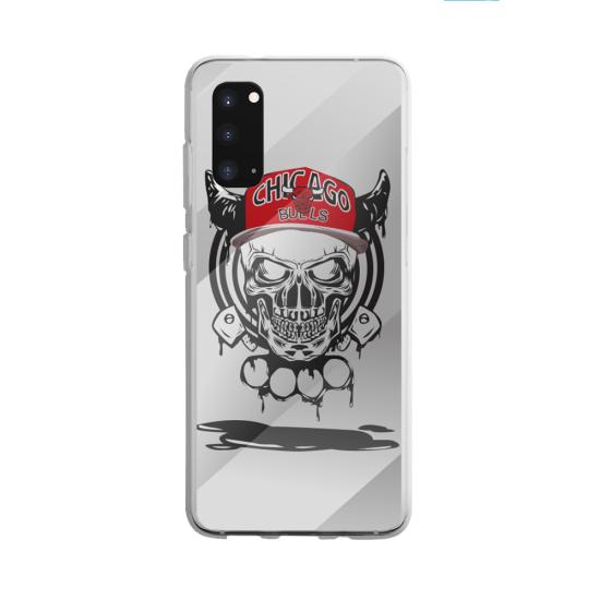 Coque silicone Galaxy A40S ou M30 Flamant rose