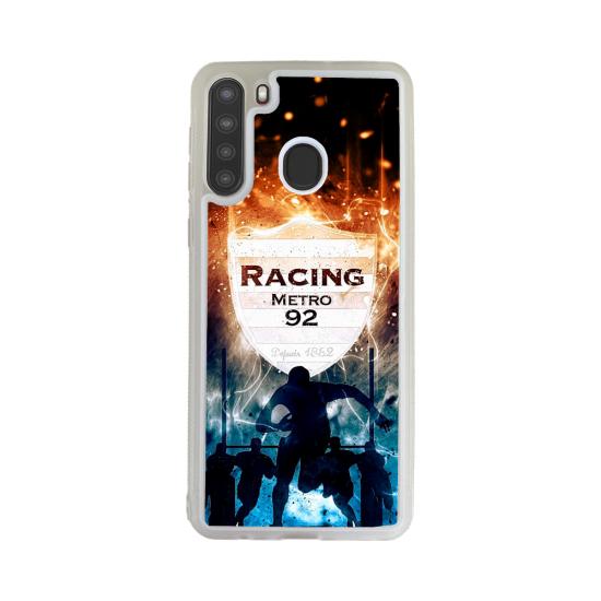 Coque silicone Galaxy A71 Fan de Yamaha Obsidienne