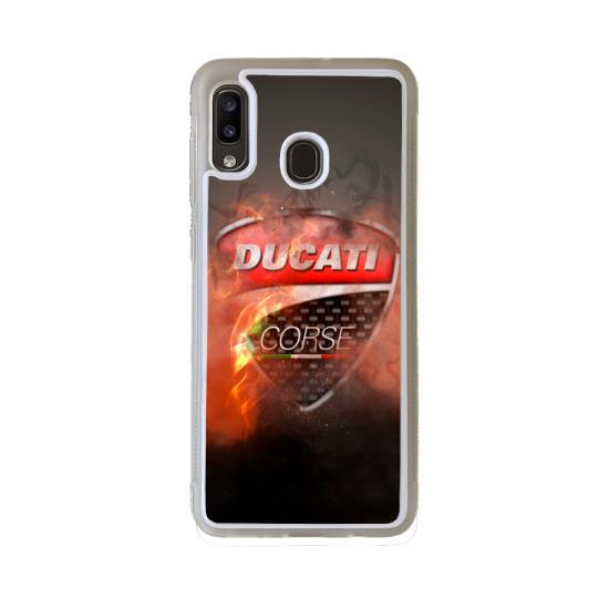 Coque Silicone Note 10 Fan de Ducati Obsidienne