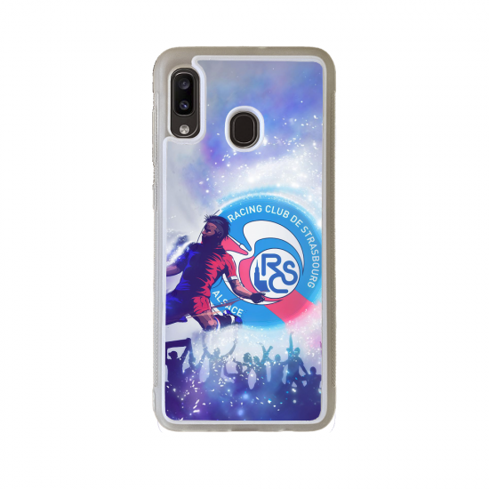 Coque silicone Iphone 6/6S Fan de Rugby Clermont Géometrics
